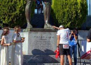 Aykut ÇELİKBAŞ: 1 Ekim 2016 246 kilometrelik SPARTATHLON YARIŞI Bitiş Simgesi Kral LEONIDAS Heykeline Dokunuş: Ne büyük başarı & mutluluk!